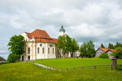 Pilgrimage Church of Wies, Bavaria, Germany. Stock Images
