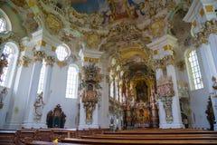 Pilgrimage Church of Wies. Interior view. Bavaria, Germany. Royalty Free Stock Image
