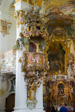 Pilgrimage Church of Wies. Interior view. Bavaria, Germany. Royalty Free Stock Images