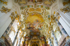 Pilgrimage Church of Wies. Interior view. Bavaria, Germany. Stock Photos