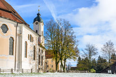 The Pilgrimage Church of Wies (Wieskirche) Country church in Bavaria Stock Image