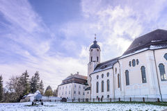The Pilgrimage Church of Wies (Wieskirche) Country church in Bavaria Stock Photos