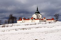 Pilgrimage church zelena hora Royalty Free Stock Image