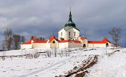 Pilgrimage church zelena hora Royalty Free Stock Photo