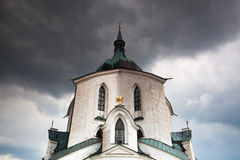 The pilgrimage church zelena hora Stock Image