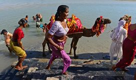 Pilgrimage in Dwarka Royalty Free Stock Images