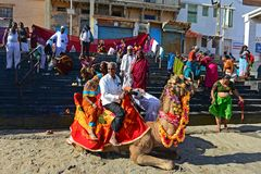 Pilgrimage in Dwarka Royalty Free Stock Photos