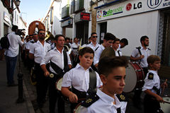 Pilgrimage in honour of the patron saint 27 (Brass band) Royalty Free Stock Photo