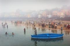 Pilgrimage in India Stock Image