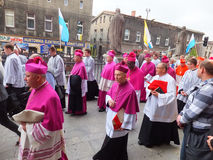 Pilgrimage for men on 25 May 2014, Piekary Silesian Stock Photo