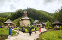 Pilgrimage at Monastery Prislop, Romania Royalty Free Stock Photography