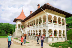Pilgrimage at Monastery Prislop, Romania Stock Images