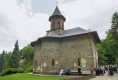 Pilgrimage at Monastery Prislop, Romania Royalty Free Stock Images
