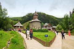 Pilgrimage at Monastery Prislop, Romania Stock Photography