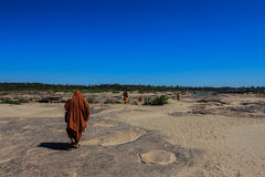 Pilgrimage Monks in Thailand Stock Photography