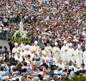 Pilgrimage - Our Lady of Fatima, Cardinals, Christian Faith, Devotee Crowd Royalty Free Stock Image