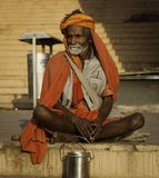 A Pilgrimage to the Ganges royalty free stock photography