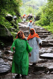 Pilgrimage to Hemakund Sahib Stock Photo