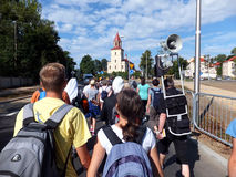 Pilgrimage to Our Lady of Jasna Gora in Czestochowa Stock Images