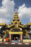 Pilgrimage to Sule Pagoda in Yangon, Myanmar Royalty Free Stock Photography