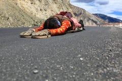 Pilgrimage to Tibet. In the pilgrimage to Tibet Royalty Free Stock Photos