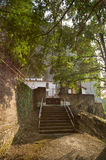 The pilgrimage trail to the mountain monastery of Greece Royalty Free Stock Photography