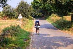 Pilgrimn ao longo do caminho de St James Fotografia de Stock Royalty Free