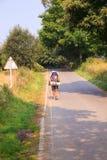 Pilgrimn ao longo do caminho de St James Imagem de Stock