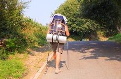 Pilgrimn ao longo do caminho de St James Imagens de Stock