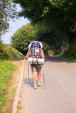 Pilgrimn ao longo do caminho de St James Imagem de Stock Royalty Free
