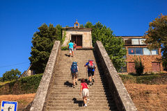 Pilgrimns攀登楼梯 图库摄影