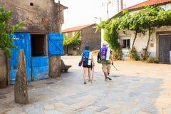 Pilgrimns längs vägen av St James Royaltyfri Fotografi