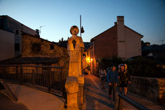 Pilgrimns a lo largo del camino de San Jaime Fotos de archivo