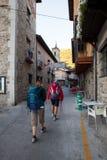 Pilgrimns wzdłuż sposobu St James Zdjęcie Stock