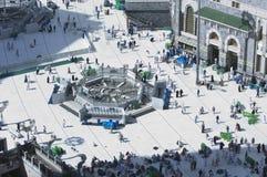 Pilgrims in Al-Masjid Al-Haram Around Al-Kaaba. In Mecca, Saudi Arabia stock photo