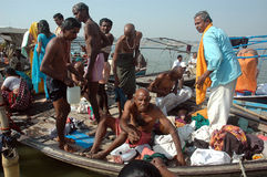 Pilgrims at Allahabad Royalty Free Stock Image