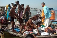 Pilgrims at Allahabad Royalty Free Stock Image