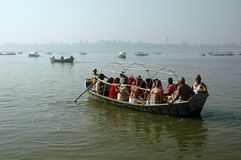 Pilgrims at Allahabad Stock Photo