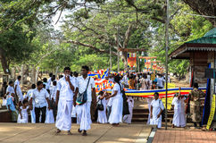 Pilgrims in Anuradhapura, Srilanka Stock Photography