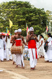 Pilgrims in Anuradhapura, Srilanka Royalty Free Stock Photo