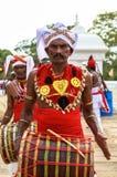 Pilgrims in Anuradhapura, Srilanka Royalty Free Stock Photos