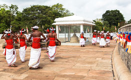 Pilgrims in Anuradhapura, Srilanka Royalty Free Stock Images