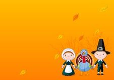 Pilgrims background Stock Images