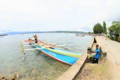 Pilgrims on boat Royalty Free Stock Photos