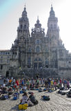 Pilgrims at the Cathedral Royalty Free Stock Photography