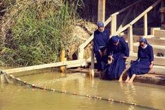 Pilgrims Catholic nuns Royalty Free Stock Image