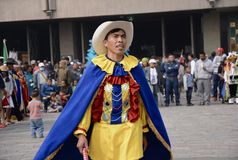 Mexico City, Mexico-December 11, 2018:Pilgrims Celebrate The Festivities at the Basilica of Guadalupe royalty free stock photo