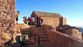 Pilgrims from China. Moses Mountain. Sinai Peninsula. Egypt Royalty Free Stock Photo
