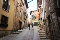 Pilgrims in cirauqui Royalty Free Stock Images