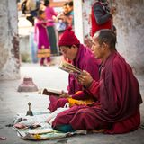 Pilgrims circle stupa Boudhanath, in Kathmandu, Nepal. Stock Photos